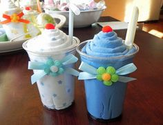 Items similar to Receiving Blanket Milkshake - Unique Baby Shower Gifts and Favors on Etsy Regalo Baby Shower, Baby Shower Favors, Baby Shower Cakes, Baby Shower Themes, Baby Boy Shower, Shower Ideas, Baby Cupcake, Baby Shower Souvenirs, Mini Diaper Cakes