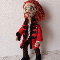 Tony Kakko - Sonata Arctica na objednávku Crochet Dolls, Unisex, Retro, Rustic, Crochet Doilies
