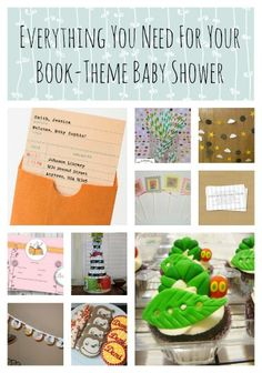 A book themed baby shower is a great idea for the family who loves to read. Here is everything you need from cake to decorations.