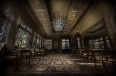 The Real Abandoned Overlook Hotel  Unlike the fictional Overlook Hotel in Stanley Kubrick's The Shining, this hotel is really named the Overlook. The abandoned hotel is located in the small, wine growing town of Bernkastel-Kues in Germany. Aside from the fact that it has been unoccupied for about 13 years, there is no information as to why the hotel was closed.