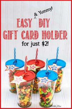 "An easy way to ""wrap"" a gift card!  Perfect for kids, tweens, teens or even teachers if filled with their favorite snack or school supplies."
