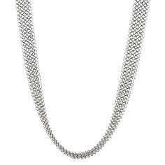 """OOOO Pascale Lion: """"Les Basiques"""" Argente Chain Mail Necklace - 94 cm"""
