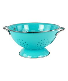 Look at this #zulilyfind! Turquoise 3-Qt. Colander #zulilyfinds
