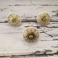 Knobs, Decorative Pull Ceramic Knob With Metal Ornate Apron, Craft Supply, Instant Furniture Upgrade Ceramic Drawer Pulls,Item #511810067 by MiCraftSupplies on Etsy