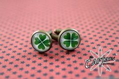St Patricks day green clover shamrock cuff by TheCaptainCosmos