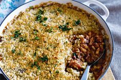 This traditional French dish is a combination of meaty goodness in the form of pork, duck and sausage and is finished with a crunchy crumb topping.