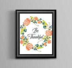 Thanks Giving Calligraphy Quote Art Print - - Wall art, quote, typography, Seasonal Quote - UNFRAMED Quote Typography, Quote Art, Art Prints Quotes, Art Quotes, Thanksgiving Art, Thanksgiving Decorations, First Art, Digital Prints, Digital Art