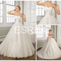 GD235 Best Selling White Satin With Lace A-line Long Tail Wedding Dresses 2012 Bridal on AliExpress.com. $207.86