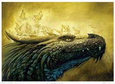 Rak Ruval and the Fairies by Ciruelo Dragon 2, Fantasy Dragon, White Dragon, Fantasy Images, Fantasy Artwork, Art Images, Chromatic Dragon, Magical Creatures, Faeries