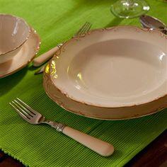 San Marco Krem Eskitme 6 kişilik 24 Parça Yemek Takımı