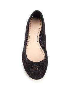 LACE BALLERINA - Shoes - Woman - ZARA United Kingdom