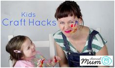 kids craft hacks - video tutorial from Little Button Diaires