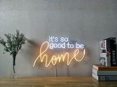 It Is So Good To Be Home Real Glass Neon Sign For Bedroom Garage Bar Man Cave Room Home Decor Handmade Artwork Visual Art Dimmable Wall Lighting Includes Dimmer Neon Wall Signs, Neon Signs Home, Custom Neon Signs, Led Neon Signs, Diy Neon Sign, Neon Sign Bedroom, Bedroom Wall, Man Cave Room, Neon Words