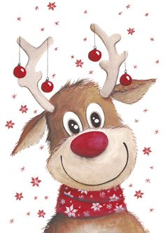 Rudolph with his tiny red balls!
