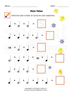 Music and Math Drum Lessons, Music Lessons, Piano Songs For Beginners, General Music Classroom, Music Math, Music Worksheets, Piano Teaching, Elementary Music, Music For Kids