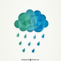 Cloud Poligonal Vetor grátis