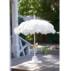 Bahia Beach Table Umbrella white - New arrivals | Rivièra Maison