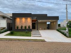 House Outside Design, House Front Design, Small House Design, Modern House Design, Bungalow Style House, Bungalow Haus Design, Duplex House Design, Modern House Facades, Modern House Plans