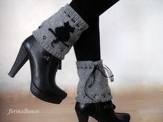 Black Cat  Winter Accessories Women Accessories Leg by formalhouse