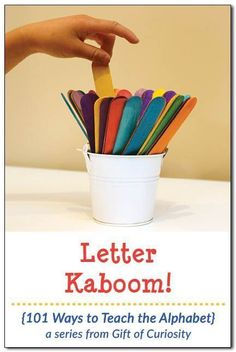 is a fun, DIY alphabet game that helps kids learn their letters through play. Make your own Letter Kaboom set and start playing today! Alphabet Games For Kindergarten, Letter Learning Games, Letter Games, Teaching The Alphabet, Preschool Literacy, Preschool Learning Activities, Letter Activities, Kids Learning, Learning Spanish