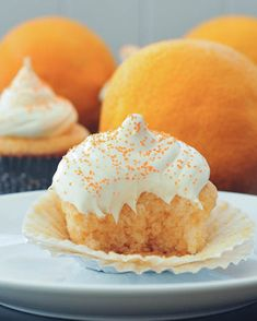 Vegan, Gluten Free Orange Creamsicle Cupcakes