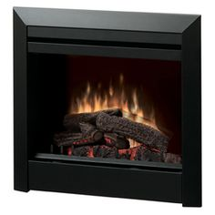 Dimplex 29.8-in W 4,692-btu Black Metal Fan-forced Electric Fireplace With…