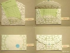 envelopes from paper doilies