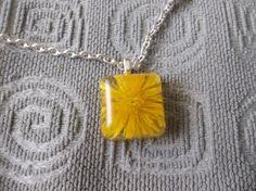 Yellow Dandelion Bloom Flower Necklace   Seasonal Remedies