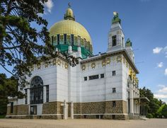 The Finest Examples of Art Nouveau Architecture in Central Europe Otto Wagner, Kirkenes, Bauhaus Art, Examples Of Art, Art Nouveau Architecture, Colourful Buildings, Central Europe, Kirchen, Roman Catholic