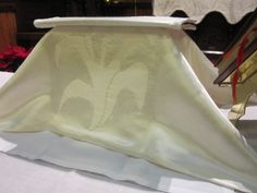 """Chalice cover for the """"white"""" liturgical seasons form Christ church in Big Stone Gap, VA"""