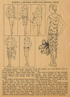 The Midvale Cottage Post: Home Sewing Tips from the 1920s - A Draped Formal Gown