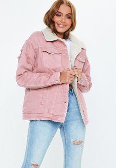 b070ff64 13 Best Pink Denim Jacket images | Pink denim jacket, Denim jackets ...