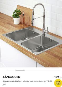2 allasta tiskaukseen Large Kitchen Sinks, Best Kitchen Sinks, Cool Kitchens, Ikea, Gauche, Moment, Decor, Products, Modern Windows