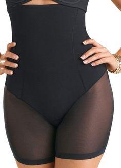 7d204497c S-XXL Black High Waist Cincher Butt Lift Panties Women Sexy Sheer Mesh Body  Shaper For Tummy Control Women s Boyshorts Underwear