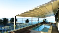 Melbourne Awning Centre - awning over pool design