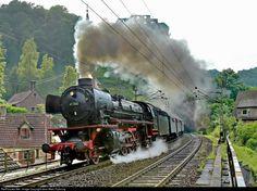 Deutsche Bundesbahn Steam 2-8-2 at Frankenstein (Pfalz), Germany by Jean-Marc Frybourg