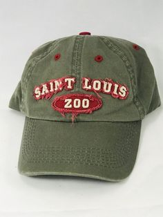 cd3edee54302c Vintage St Louis Zoo Velcro Adjustable Hat Dad Cap