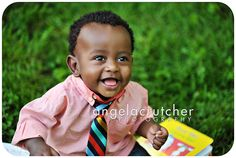 big boy ... baby in daddy's shirt and tie