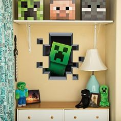 [ Minecraft Wall Art Creates Portal Mine More Gold Themed Vinyl Decals Stickers Game Room Decor Free ] - Best Free Home Design Idea & Inspiration Craft Minecraft, Minecraft Decorations, Minecraft Room, Minecraft Party, Minecraft Stuff, Minecraft Memes, Minecraft Skins, Minecraft Buildings, Minecraft Storage