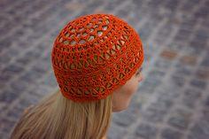 Crochet Summer Hat Lace Women's Lace Cotton Beanie