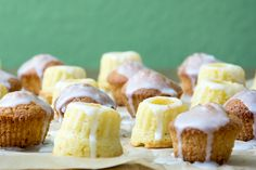Zitronen-Mini-Gugel, Zitronen-Mini-Cupcakes