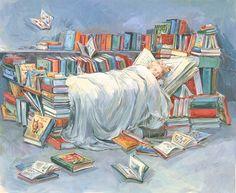 sleeping with books