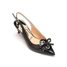 A glimpse of goldtone details here and there adds fascination to this leather slingback pump. Wide Width Shoes, Slingback Pump, Fascinator, Kitten Heels, Pumps, Flats, Leather, Fashion, Loafers & Slip Ons