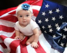Red White and Blue -great idea for the 4th of July photo op.
