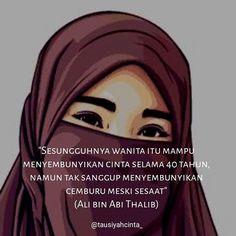 """Sesungguhnya wanita itu mampu menyembunyikan cinta selama 40 tahun namun tak sanggup menyembunyikan cemburu meski sesaat"" (Ali bin Abi Thalib) . . . Follow @catatancintamuslimah Follow @catatancintamuslimah . . https://ift.tt/2f12zSN"