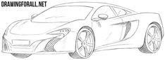 How to Draw a Mclaren 650s #mclaren650s