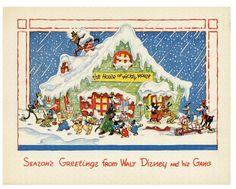 Walt disney studios christmas cards 1935 1983 season s greetings from