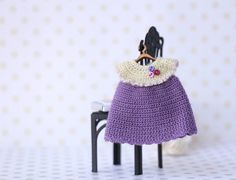 Hey, I found this really awesome Etsy listing at https://www.etsy.com/listing/263698391/miniature-crocheted-dress-with-ornament