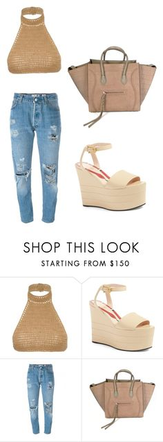 """Malibu Barbie"" by blayne26 ❤ liked on Polyvore featuring SHE MADE ME, Gucci, RE/DONE and CÉLINE"
