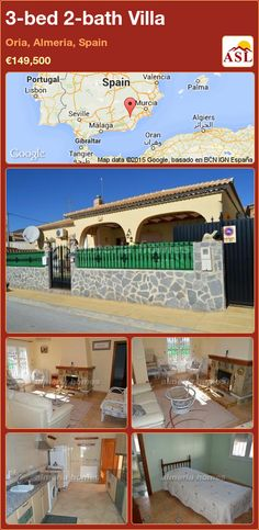 3-bed 2-bath Villa in Oria, Almeria, Spain ►€149,500 #PropertyForSaleInSpain